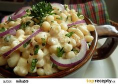 Jednoduché křenové fazole recept - TopRecepty.cz Pasta Salad, Potato Salad, Macaroni And Cheese, Veggies, Cooking, Ethnic Recipes, Food, Crab Pasta Salad, Kitchen