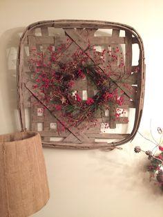 Christmas tobacco basket