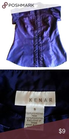 Purple Kenar Button up blouse Beautiful and in like new condition. This blouse is made of 100% polyester and fits lovely. Kenar Tops Button Down Shirts