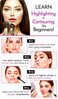 Contouring for Beginners : Step by Step Beauty Guides Contouring is a great technique to sculpt the face more prominently. If you are a beginner, then contouring for beginners is a technique worth learning. Make Up Tutorial Contouring, Contouring For Beginners, Makeup Tutorial Eyeliner, Makeup Tutorial For Beginners, Basic Makeup For Beginners, Makeup Products For Beginners, Makeup Essentials For Beginners, Makeup Tricks, Makeup Guide