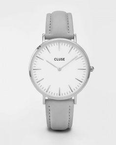 Cluse Uhr La Boheme Armbanduhr Grau/Silber