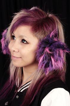 Karvaiset Korvaläpät -Pinkkivioletti   Cybershop