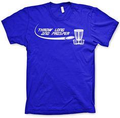 Throw long and Prosper frisbee golf tee disc golf shirts parody t shirt - Shop for women's Shirt - ROYAL Shirt