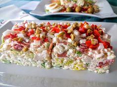 Ensalada de arroz I Love Food, Paella, Pasta Salad, Salad Recipes, Potato Salad, Picnic, Salads, Sandwiches, Food And Drink