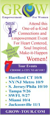 GROW TOUR for Women ~ Empowerment for business, personal and spiritual growth. Choose a city near you and register with a friend!  It's a full-day event sure to inspire you to GROW with grace and ease! http://grow-tour.com