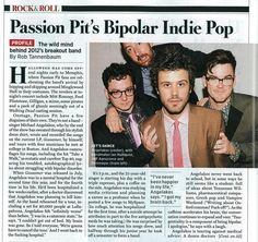 Passion Pit's profile featured in Rolling Stone