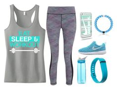 """Untitled #198"" by basketball11-123 ❤ liked on Polyvore featuring Sweaty Betty, CamelBak, Fitbit and NIKE"