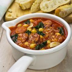 Really into these chorizo/tomato recipes rt now.   Tomato, Chorizo, Chickpea, Kale Soup