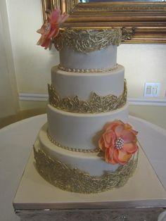 Wedding Cage Cake - via @Craftsy