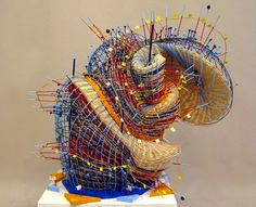 """Nathalie Miebachs woven sculptures /// """"My work focuses on the intersection of art and science and the visual articulation of scientific observations. I translate scientific data related to astronomy, ecology and meteorology into woven sculptures."""""""