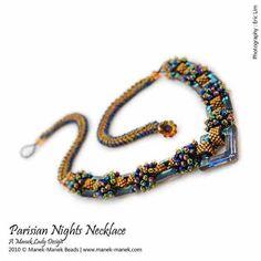 eTUTORIAL Parisian Nights Necklace by maneklady on Etsy