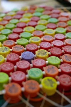 A welcome mat of recycled bottle caps in the studio of South African designer Heath Nash From HAND/EYE Magazine's 09/South Africa issu...