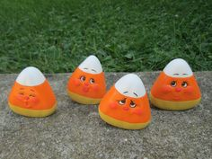 ceramic candy corn halloween decorations fall by teresasceramics - Ceramic Halloween Decorations