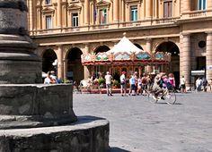 """""""In the Seat of Abundance: Piazza della Repubblica"""" by Cheryl Tucker"""