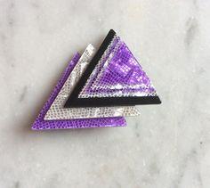 Lea Stein Paris Vintage Geometric  brooch by DecoFashion on Etsy