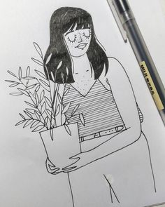 68/100 #100daysproject 10/31 #inktober2017  OMG I'm so late on #inktober I can't even think I could go back on track! But I'll certainly try... maybe simplicity is the key so here's a loose and quick sketch just to show I'm alive even after 15 working hours!