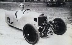 Gwenda Stewart (later Hawkes) with her Derby, the fastest woman at Brooklands at 135.95mph.