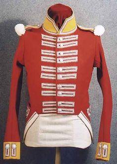Replica of a British 100th Regiment of Foot Private's Coat, circa 1812, front view. British Army Uniform, British Uniforms, War Of 1812, Royal Marines, American Revolutionary War, Canada, Army & Navy, Napoleonic Wars, British History