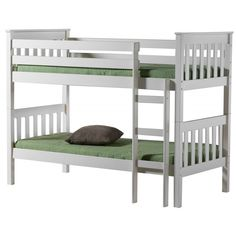 This Bonsoni Modern Style Seattle Bunk Bed Frame Ivory is a beautiful piece of Bed demostrating the Bonsonis unparallel quality and workmanship. This SEATTLE BUNK BED IVORY comes in 3 boxes. This Bonsoni Modern Style Seattle Bunk Bed Frame Ivory is made Pine Bunk Beds, Wooden Bunk Beds, Cool Bunk Beds, Bunk Beds With Stairs, Kid Beds, Convertible Bunk Beds, Seattle, High Sleeper Bed, Single Bunk Bed