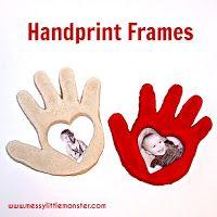 Salt dough handprint frame craft for kids.  Great gift or keepsake for Valentines day or Mothers day.