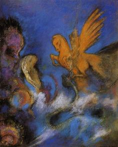 Roger and Angelica - Odilon Redon 1910