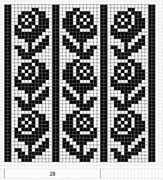 I'm picturing a pullover sweater. Knit the bust plain (or possibly reverse stockinette stitch) in the contrasting color, and have this pattern for the body. the only difficulty would be the waist shaping. Maybe break up the pattern with some plain ribbing (in contrast color) at the waist?