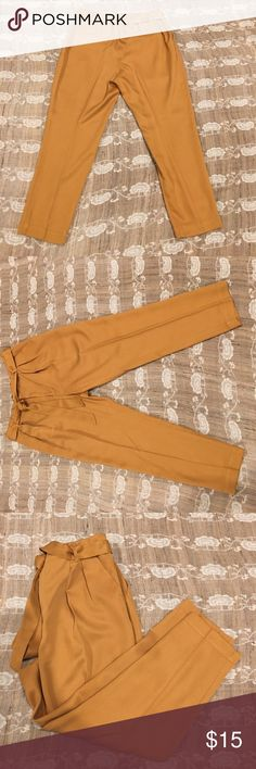 "ANTHROPOLOGIE TENCEL CROPPED TROUSERS Anthropologie Tencel cropped trousers. Approximate measurements - Inseam 25"", Waist 33"". Anthropologie Pants Ankle & Cropped"