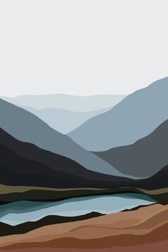 """Check out our web site for additional info on """"abstract art paintings tutorial"""". It is actually a superb area to get more information. Art And Illustration, Illustrations, Painting Inspiration, Art Inspo, Abstract Landscape, Abstract Art, Landscape Artwork, Contemporary Landscape, Minimal Art"""