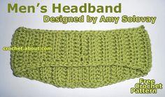 10 Men's Free #Crochet Patterns for Father's Day: Men's Crochet Headband