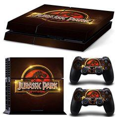 Ps4 Playstation 4 Console Skin Aufkleber Decal Sticker Jurassic Park + 2 Controller Aufkleber Set