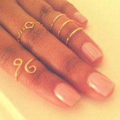 Three Gold Midi Rings