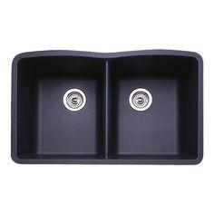Blanco 511-702 Diamond Equal Double Bowl Kitchen Sink, Anthracite Finish - Blanco Undermount Sink - Amazon.com