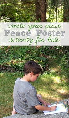 Kids explore what peace is and create a poster as a reminder to be at peace during challenging times.