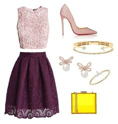 """""""Sin título #65"""" by elenasanchezmolina ❤ liked on Polyvore featuring Christian Louboutin, Oui, Odile!, EF Collection and Delfina Delettrez"""