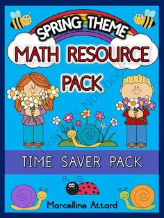 SPRING THEME MATH RESOURCE PACK FOR YOUNG STUDENTS-TIME SAVER-DIFFERENT UNITS from FREEYOURHEART on TeachersNotebook.com -  (18 pages)  - $1 off for the first 48 hours! :)  This MATH PACK contains 18 worksheets.  It is a TIME SAVER! Different units in one pack! Number sequence, addition, subtraction, Making 10, How many more?, Smallest Number, Largest Number and Ordering Numbers are all inc