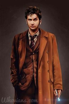 An awesome Doctor portrait. Doctor Who 10, Ninth Doctor, Doctor Tumblr, Martha Jones, David Tennant, Mad Men, Raincoat, Cosplay, Portrait