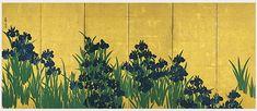 Ogata Korin《燕子花図屏風(左隻)》 尾形光琳筆 日本・江戸時代 18世紀 根津美術館蔵