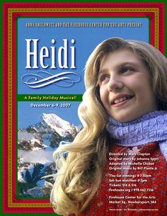 Heidi• 2007 • poster designed by Tim Hiltabiddle