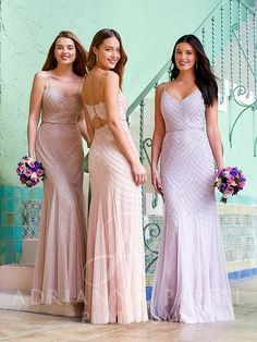 Flared Bridesmaid Dresses, Wedding Dresses, Adrianna Papell, Wedding Bridesmaids, Fit And Flare, Evening Dresses, Wedding Photos, Sequins, Gowns