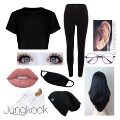 Bts Inspired outfits by jungkookwifeuoml on Polyvore featuring River Island, Giuseppe Zanotti and Lime Crime