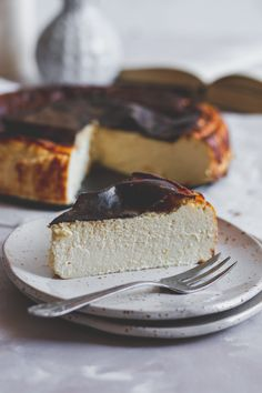 baszk sajttorta cukormentesen (égetett sajttorta) - sugarfree dots Cheesecake, Food, Cheesecakes, Essen, Meals, Yemek, Cherry Cheesecake Shooters, Eten