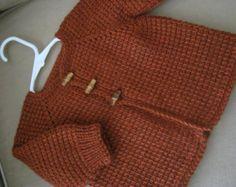 Crochet bebé suéter blanco hecho por encargo por ForBabyCreations