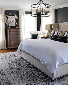 Dark Painted Bedroom