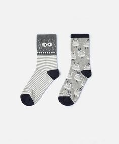 2-pack of Monsters socks - View All - Autumn Winter 2016 trends in women fashion at Oysho online. Lingerie, pyjamas, sportswear, shoes, accessories, body shapers, beachwear and swimsuits & bikinis.