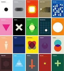 Poster series explaining complex philosophical theories through basic shapes Genis Carreras. This would certainly be a good point of departure for the book covers of a hypothetical series on philosophy. Graphic Design Typography, Graphic Design Illustration, Swiss Style, Swiss Design, We Are The World, Design Graphique, Basic Shapes, Minimalist Poster, Minimalist Art