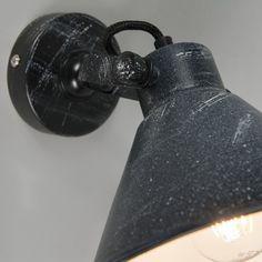 Wall Lamp Liko 1 Black with White E27 Light Bulb, Lamp, Pendant Lamp, Wall Lamp, Indoor Lighting, Wall Lights, Lamp Shade, Black Wall Lamps, Industrial Wall Lamp