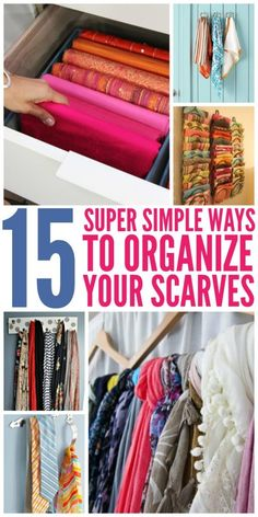 These tips on ways to organize scarves will help you keep them neat and tidy whether they're in your drawer, your closet or on display in your room.