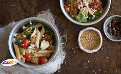 Receta de Ensalada de Pollo CUK y pasta healthy