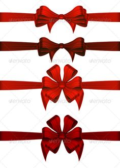 Red Gift Ribbons — JPG Image #buy #bow • Available here → https://graphicriver.net/item/red-gift-ribbons/3431422?ref=pxcr
