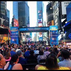"""@timessquarenyc's photo: """"Motown: The Musical getting the crowd dancing!"""""""